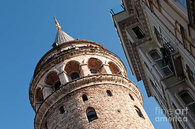 Galata Tower 04 Print by Rick Piper Photography