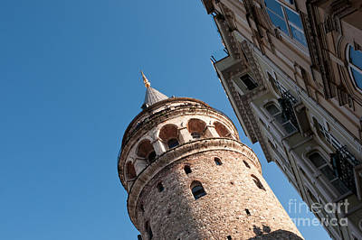 Galata Tower 05 Print by Rick Piper Photography