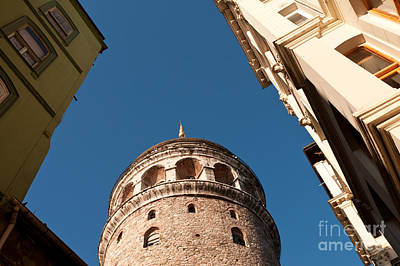 Galata Tower 07 Print by Rick Piper Photography