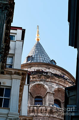 Galata Tower 09 Print by Rick Piper Photography