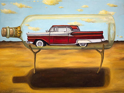 Hot Rod Painting - Galaxie In A Bottle by Leah Saulnier The Painting Maniac
