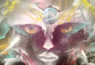 Outer Space Mixed Media - Galaxy Girl by Braylyn Stewart