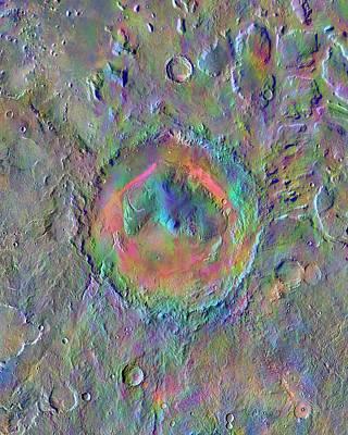 Gale Crater Print by Nasa/jpl-caltech/asu