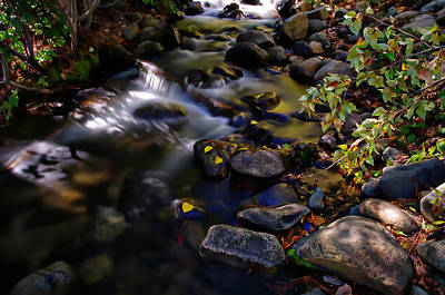 Density Photograph - Galena Creek Fall Waterfall by Scott McGuire