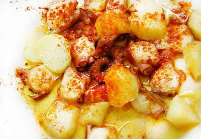 Potato Digital Art - Galician Octopus  by Gina Dsgn