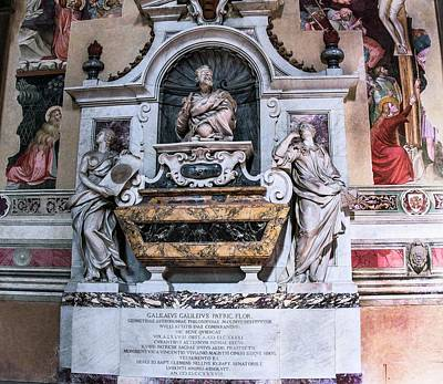 Marble Tomb-stones Photograph - Galileo's Tomb by Brian Gadsby