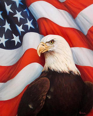 Americas Freedom Icon Painting - Gallantly Streaming-2 by ArtLoft - Southern California