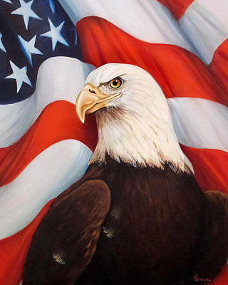 Americas Freedom Icon Painting - Gallantly Streaming-3 by ArtLoft - Southern California