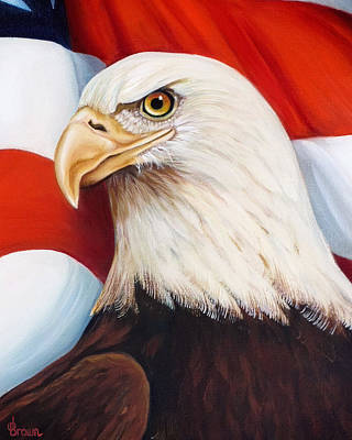 Americas Freedom Icon Painting - Gallantly Streaming-4 by Jean R Brown - J Brown
