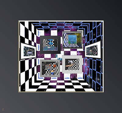 Universal Art Mixed Media - Galleria Of The Unreal by Mario Carini