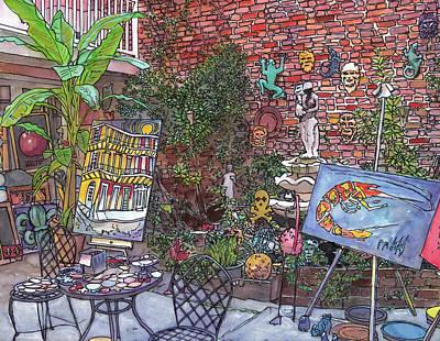 Gallery Courtyard 442 Original by John Boles