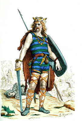 Gallic Warrior Print by Collection Abecasis
