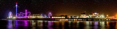 Roller Coaster Photograph - Galveston Historic Pleasure Pier by Thomas Zimmerman