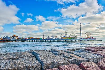 Galveston Photograph - Galveston Pleasure Pier  by Tod and Cynthia Grubbs