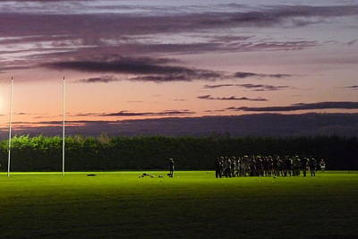 Rugby Photograph - Galway Irish Rugby Training by Patrick Dinneen