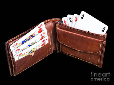 Leather Purses Photograph - Gambling Wallet by Sinisa Botas
