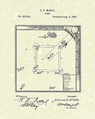 Game 1887 Patent Art Print by Prior Art Design
