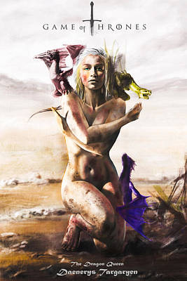 Stark Painting - Game Of Thrones - Daenerys by FHT Designs