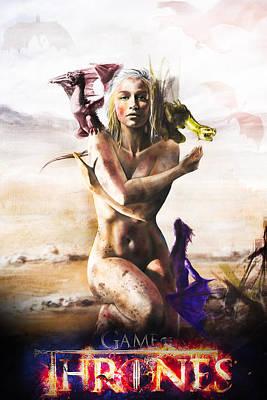 Cersei Digital Art - Game Of Thrones - Daenerys by Fht