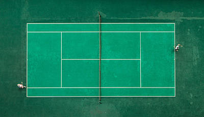 Aerial Photograph - Game! Set! Match! by Fegari