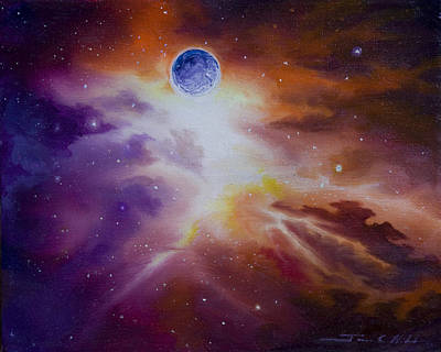 Cemetary Painting - Gamma Nebula by James Christopher Hill