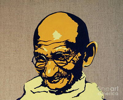 Gandhi Painting - Gandhi by Rebecca Mott