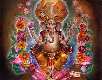 Ganesh Print by Vera Atlantia