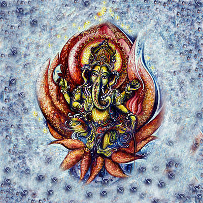 Devotional Painting - Ganesha Dance by Harsh Malik