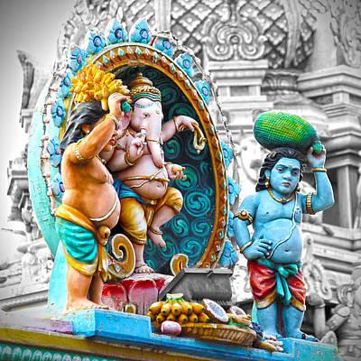Hindu Photograph - Ganesha In Chennai by Karen Anderson