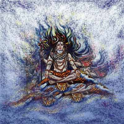 Yoga Painting - Gangadhar by Harsh Malik