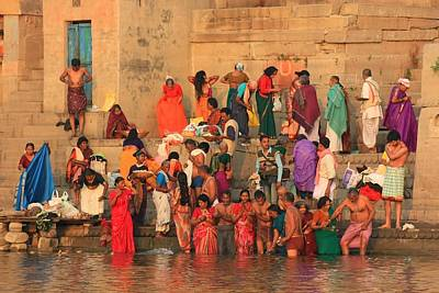 Cremation Ghat Photograph - Ganges Pilgrims by Amanda Stadther
