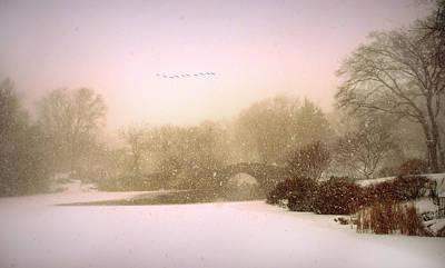 January Digital Art - Gapstow Blizzard by Jessica Jenney