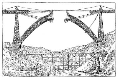 Garabit Viaduct Print by Science Photo Library