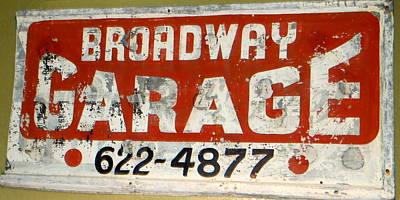 Garage Grunge Print by Dorothy Menera