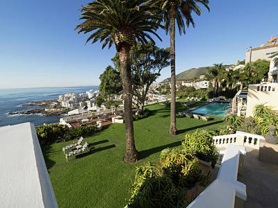 Chateau Photograph - Garden And Pool Of Ellerman House by Panoramic Images