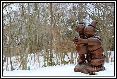 Garden Art In Winter Original by Dora Sofia Caputo Photographic Art and Design