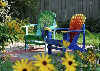 Garden Chairs Print by First Star Art