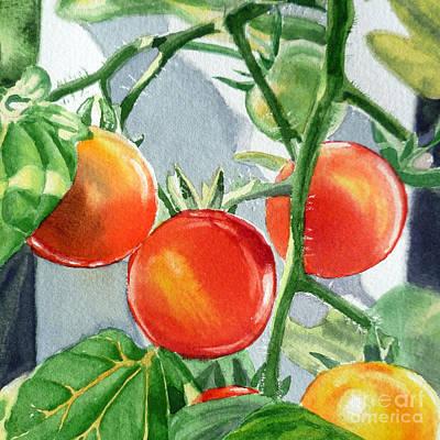 Tomato Painting - Garden Cherry Tomatoes  by Irina Sztukowski