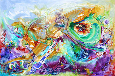 Fauna Painting - Garden Cipher by Susan Card