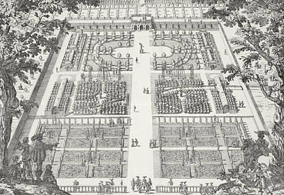 Garden Design From The Gardens Of Wilton Print by Isaac de Caus
