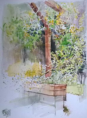Mood Painting - Garden Detail by Lorand Sipos