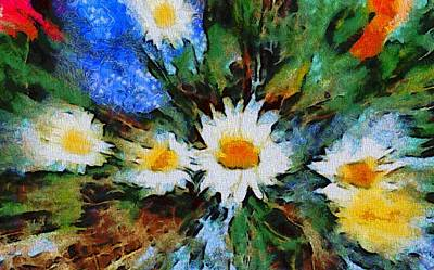 Daisies Mixed Media - Garden Explosion by Dan Sproul