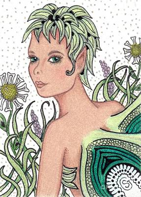Garden Fairy - Check Out My Flowers Original by Sherry Goeben