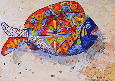 Pottery Painting - Garden Fish by Suzy Pal Powell