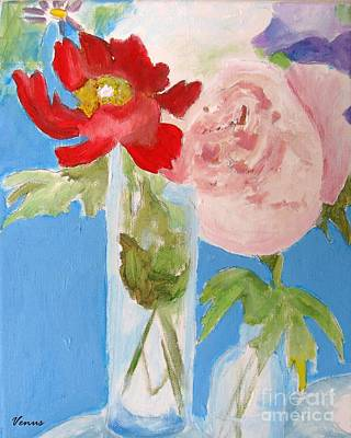 Painting - Garden Flowers by Venus