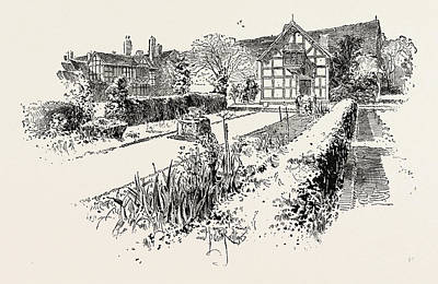 Stratford Drawing - Garden Front Of The House In Which Shakespeare Was Born by English School