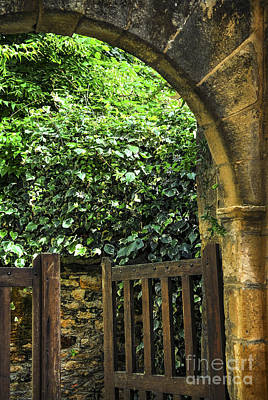 Medieval Entrance Photograph - Garden Gate In Sarlat by Elena Elisseeva