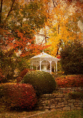 Garden Gazebo Print by Jessica Jenney