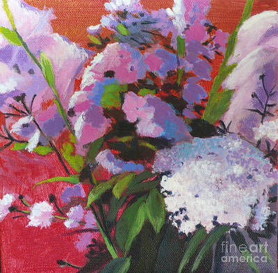 Asters Painting - Garden Gifts by Melody Cleary