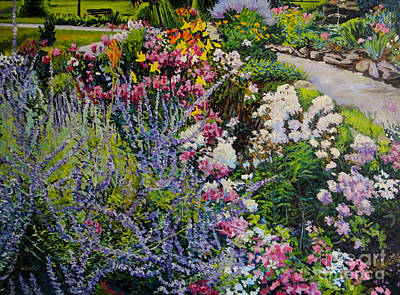 Garden In Full Sun Print by William Bukowski